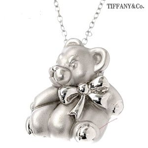 TIFFANY Tiffany&Co Silver Cute Bear Chain Pendant